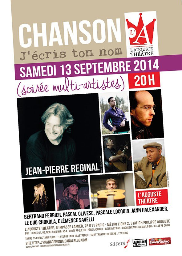 Christian de Montagu aime la chanson...: Mot de l'organisateur de la premi�re �dition de la soir�e 'Chanson j'�cris ton nom'