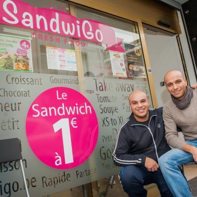 SandwiGo propose ses sandwiches à 1 € à Bruxelles!