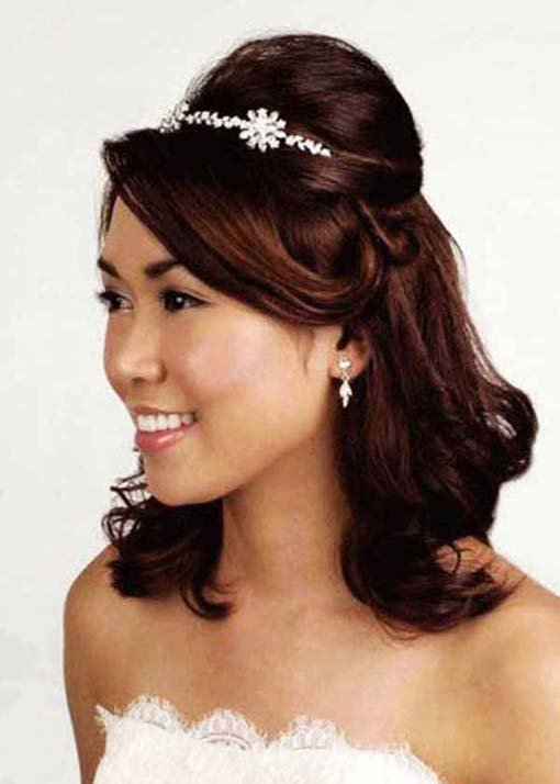 quinceanera hairstyles with tiara : Quinceanera Hairstyles 2013 With Tiara Wedding hair:half up tiara