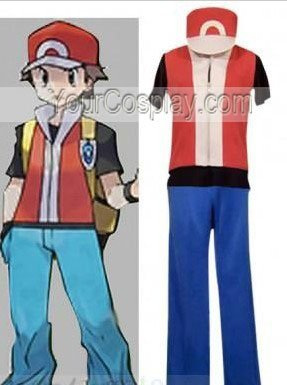 pokemon trainer red cosplay costume include hat other cosplay costumes cosplay costumes. Black Bedroom Furniture Sets. Home Design Ideas