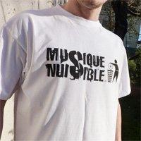 Achat - T-shirt MUSIQUE NUISIBLE (Blanc) - Artiste : G-Zon (La Meute)