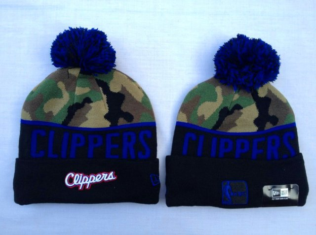 New Era Los Angeles Clippers Beanie With Pom Hats