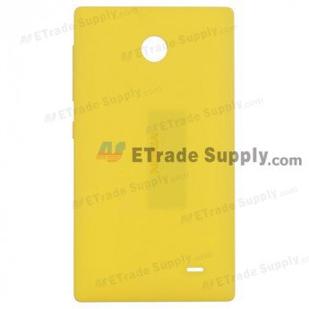 Nokia X Rear Housing - Yellow - With Nokia Logo Only