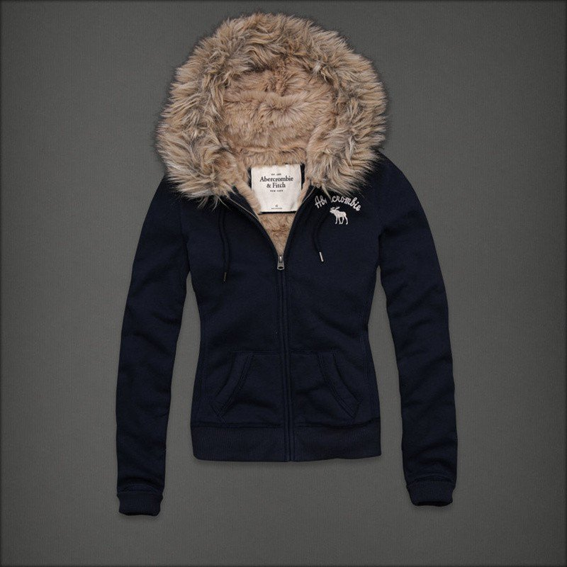 Hollister Ireland Dublin Abercrombie and Fitch Women Fur Hoodies 056