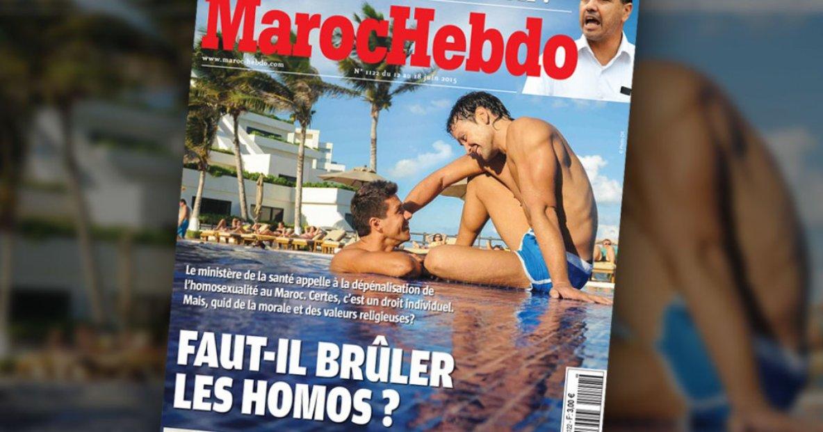 Délires homophobes : Maroc Hebdo International suggère de brûler vif les homosexuels