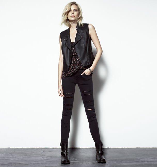 Embellished lace dress guess tendance mode femme - Jean dechire noir ...