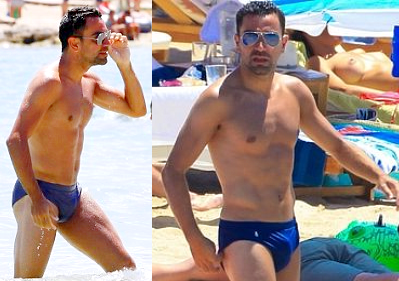 xavi Hernandez Big bulge - Bulge Football