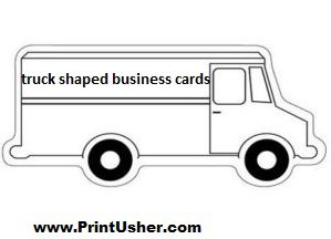 Truck shaped business cards stevejones39s blog for Car shaped business cards