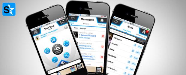 L'appli Skyrock.com